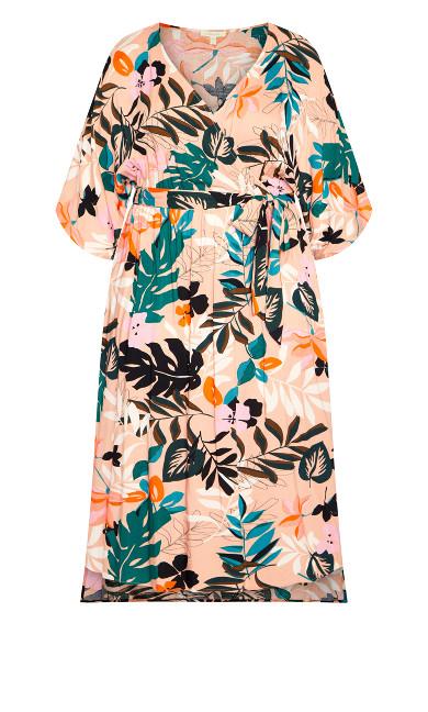 Day Date Print Maxi Dress - light pink