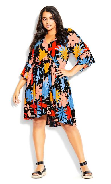 Plus Size Valencia Mini Dress - multi floral