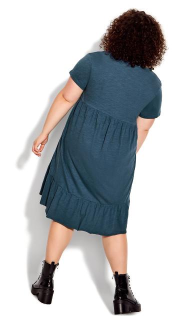 Perla Frill Dress - blue