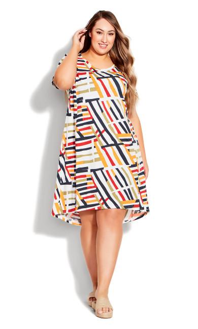 Plus Size Hello Sunshine Dress - ivory