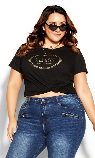 Gold Couture Tee - black