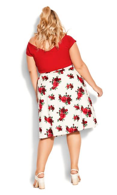 Vintage Rose Skirt - ivory