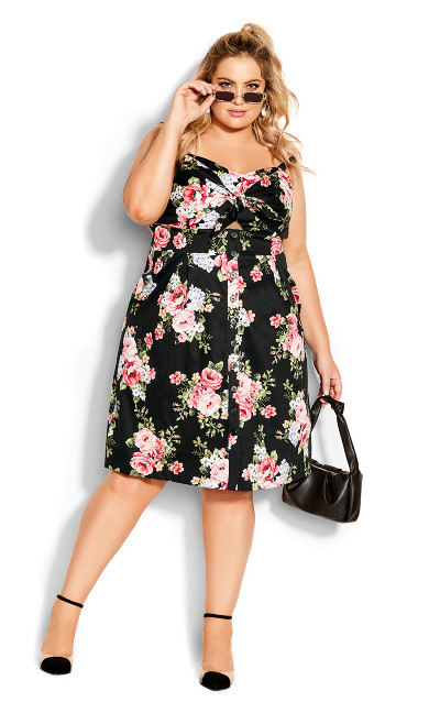 Sweet Retro Dress - black