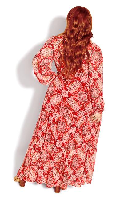 Sweet Spirit Maxi Dress - rouge