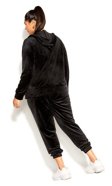 Velour Hoodie - black