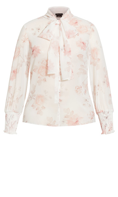 Delicate Rose Top - white