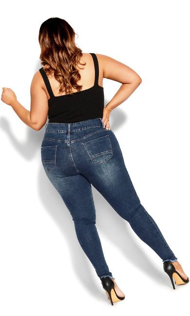 Asha Chic Cuff Jean - denim