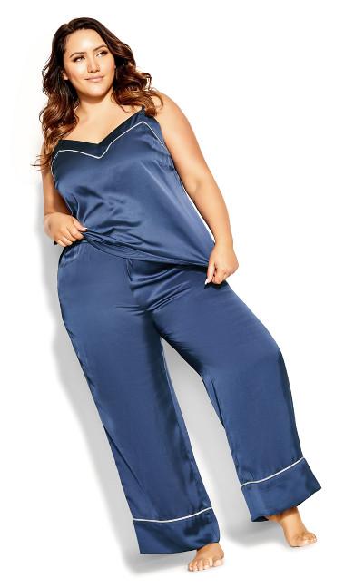 Nora Satin Cami - dusty blue