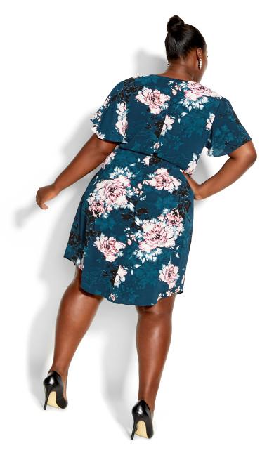Zip Blossom Dress - jade blossom