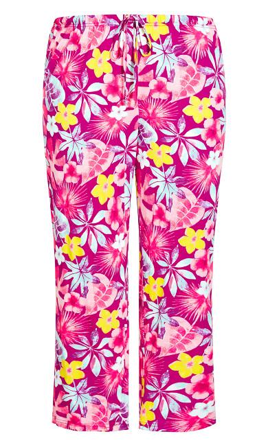 Print Sleep Pant - magenta floral