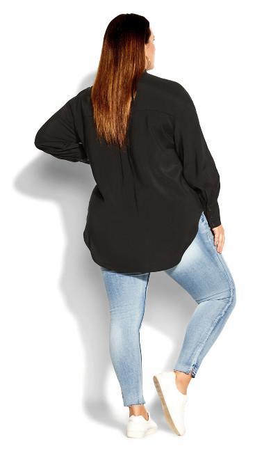 Sleek Pocket Shirt - black