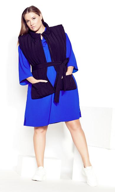Refinity Cowl Dress - cobalt