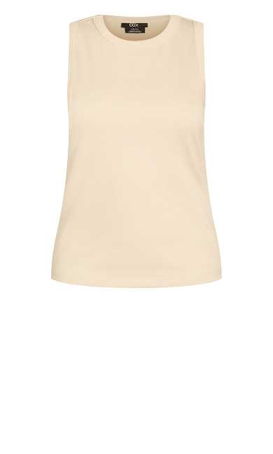 Pared Back Tank - pearl