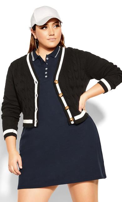 Shirt Varsity Dress - royal navy