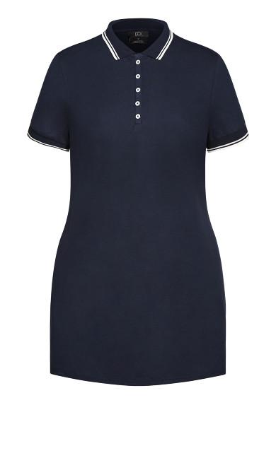 Varsity Shirt Dress - royal navy