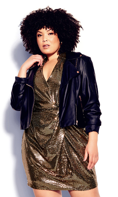 Sequin Glow Dress - bronze