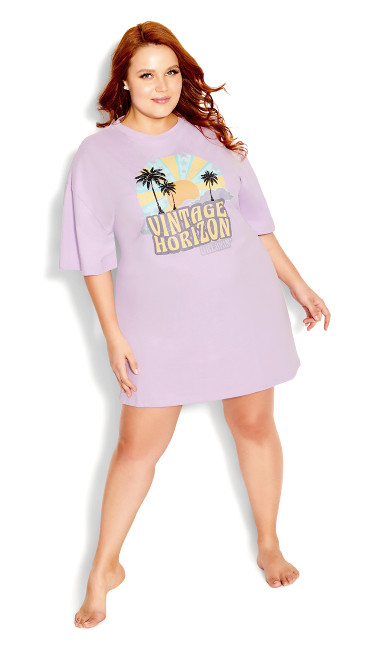 Graphic Nightie - lilac