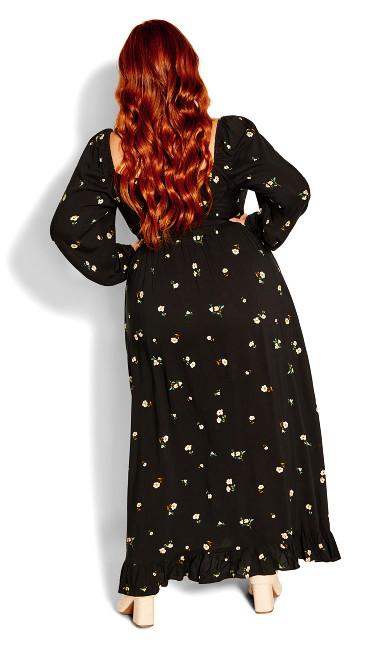 Darling Ditsy Maxi Dress - black