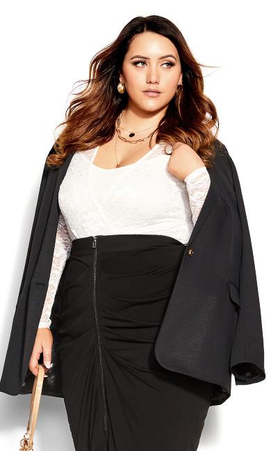 Sexy Drape Skirt - black