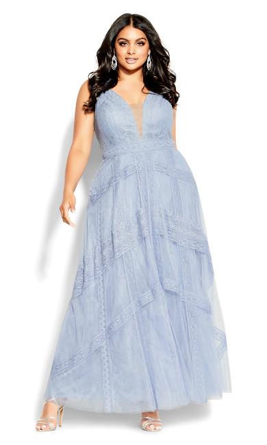 Divine Whimsy Maxi Dress - whisper blue