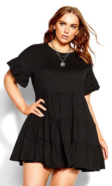 Flirty Tier Dress - black