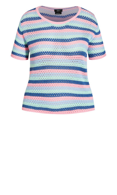 Multi Crochet Top - multi pastel