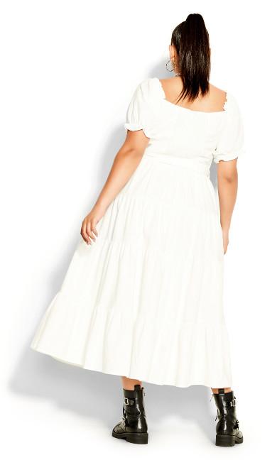 Puff Sleeve Maxi Dress - ivory