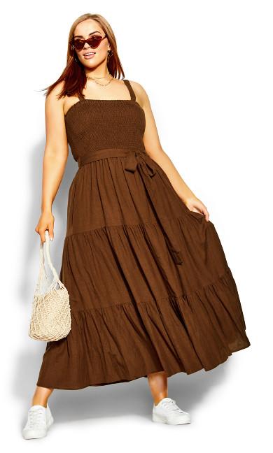 Flutter Maxi Dress - cocoa