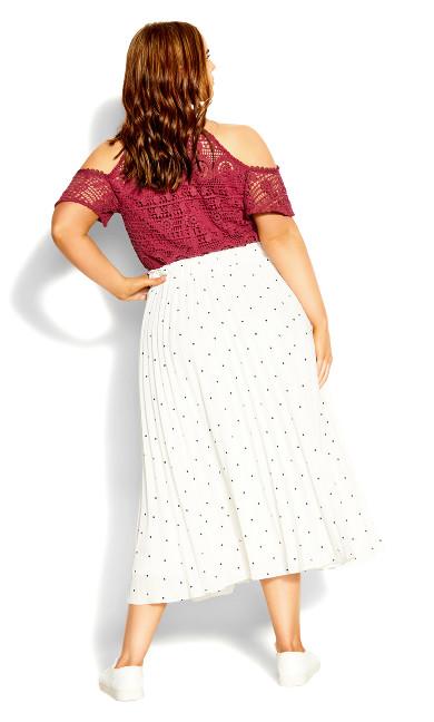 Crush Spot Skirt - black