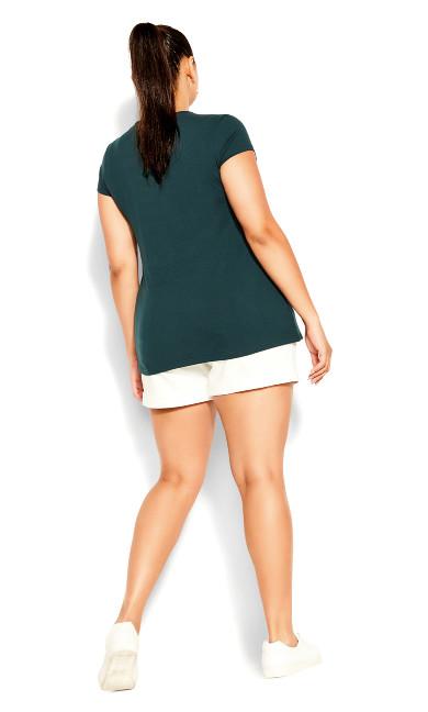 Basic Cold Shoulder Top - emerald