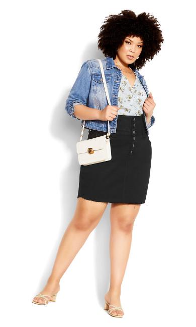 Button Skirt - black