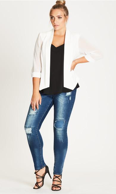 Women's Plus Size  Drapey Blazer Jacket