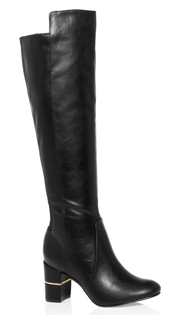 Priscilla Knee High Boot - black