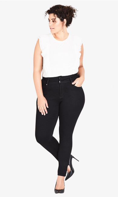 Women's Plus Size Harley Regular Skinny Jean - Black
