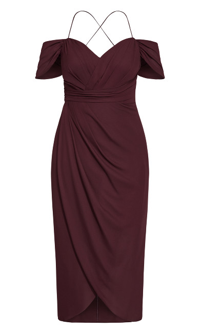Entwine Maxi Dress - red