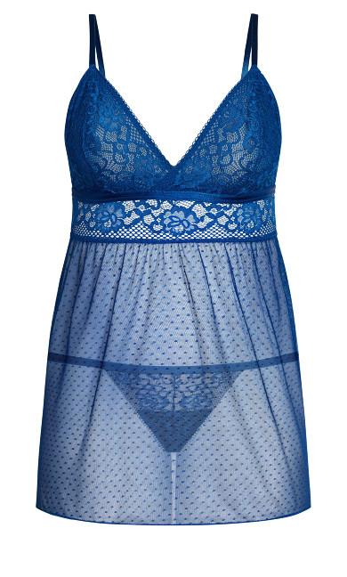 Mia Babydoll Set -  mykonos blue