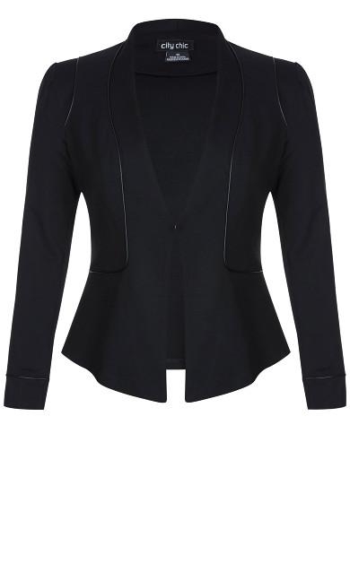 Piping Praise Jacket - black