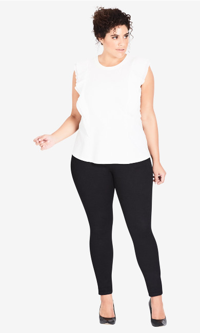 Women's Plus Size Highrise Skinny Short Asha Jean