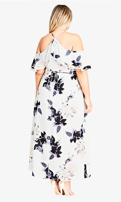 Delicate Ruffle Maxi Dress