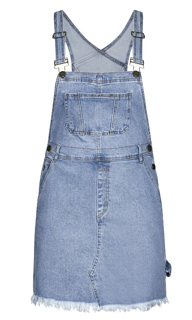 Denim Overall Bib Dress - denim