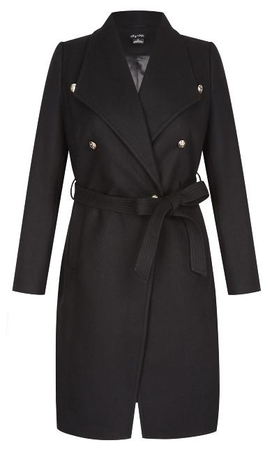 Sassy Military Coat - black
