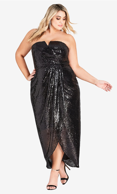 Women's Plus Size Sequin Siren Maxi Dress