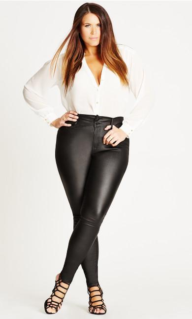 Women's Plus Size Skylar Short Coated Skinny Jean