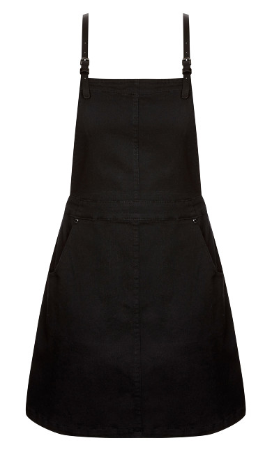 Denim Pinafore - black