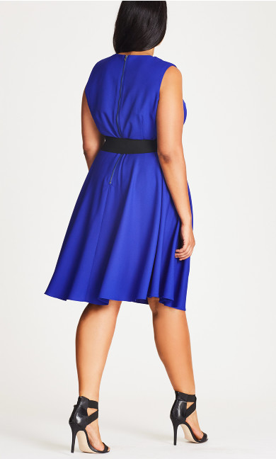 Vintage Veronica Dress - cobalt