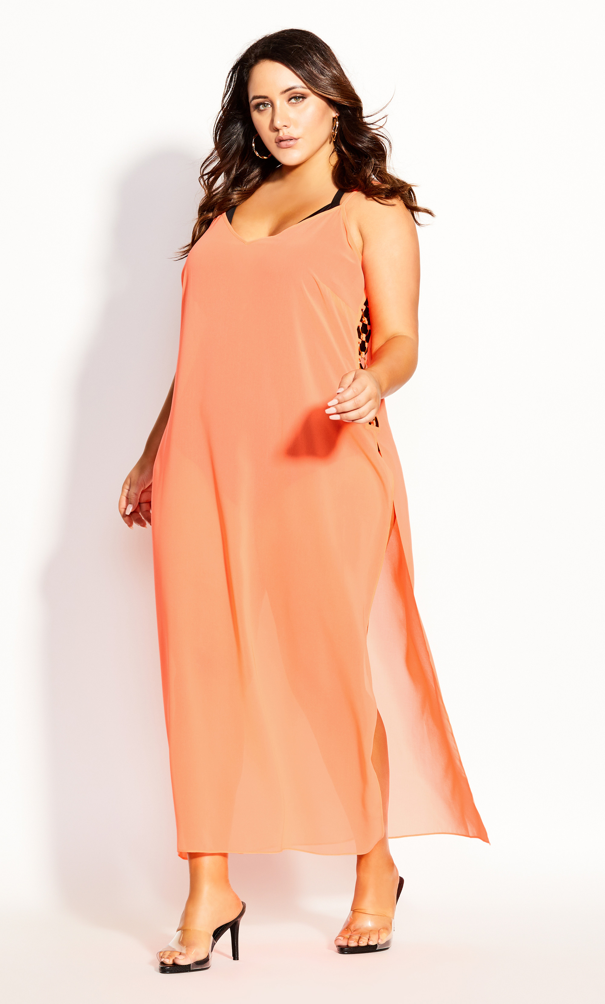 Miami Maxi Dress neon pink