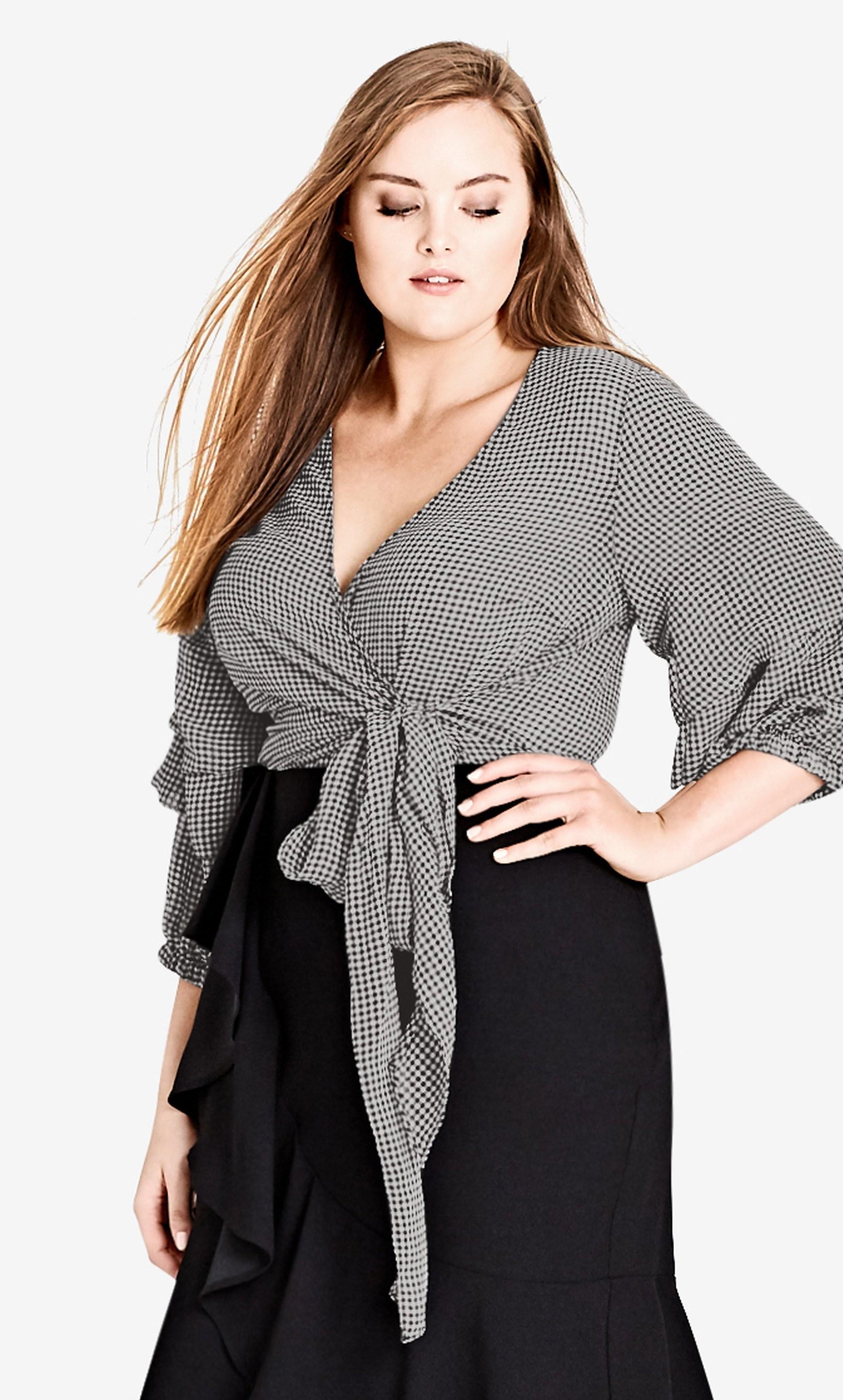 Plus Size Wrap Shirt: