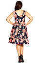 Rosey Posey Fit & Flare Dress