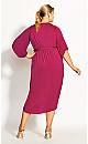 Plus Size Opulent Wrap Dress - fuchsia