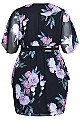 Garden Wrap Dress - black